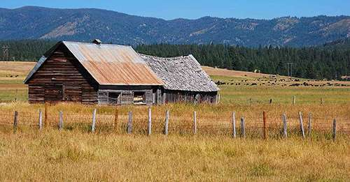 Old Cascade Barn near Cascade, Idaho